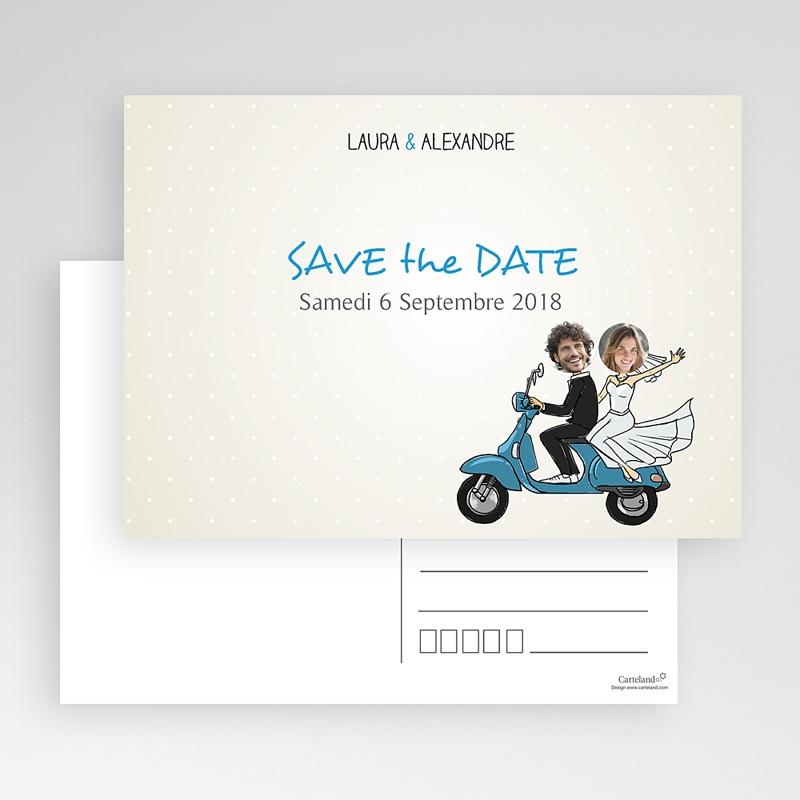 Save the date mariage Vespa gratuit