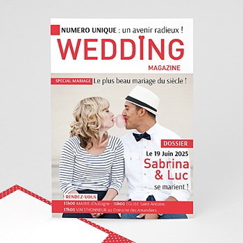 Faire Part Mariage Original - Wedding Magazine - 0