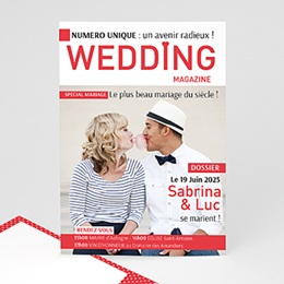 Faire-Part Mariage Wedding Magazine