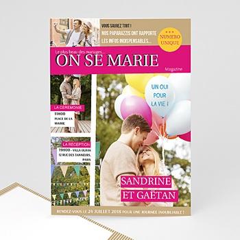 Faire Part Mariage Original - Marions-nous - 0