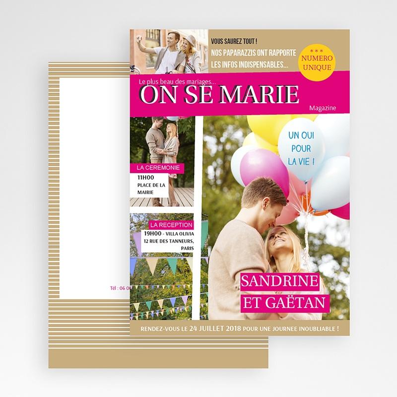Faire Part Mariage Original - Marions-nous 36605 thumb