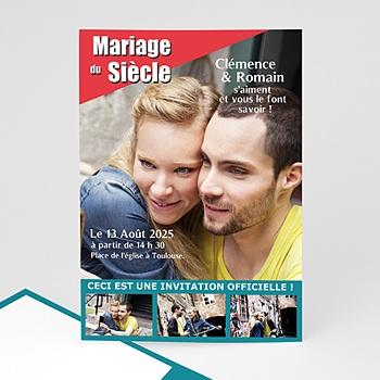 Faire-part mariage humour mariage du siècle