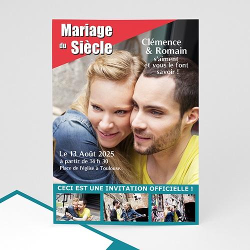 Faire-Part Mariage Personnalisés - Mariage du siècle 36606