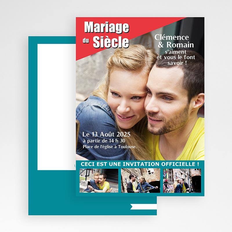 Faire-Part Mariage Humour Mariage du siècle gratuit