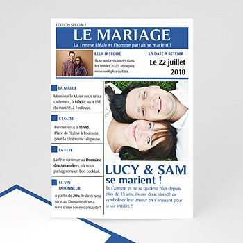 Faire-Part Mariage - Mariés - 0