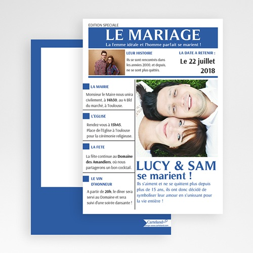 Faire-Part Mariage - Mariés 36611 thumb