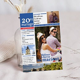 Faire-part mariage original Focus