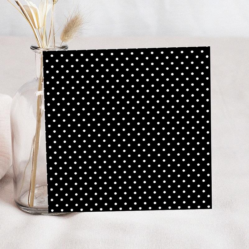 Faire-Part Mariage Noir et Blanc Confetti blanc et gris à pois pas cher
