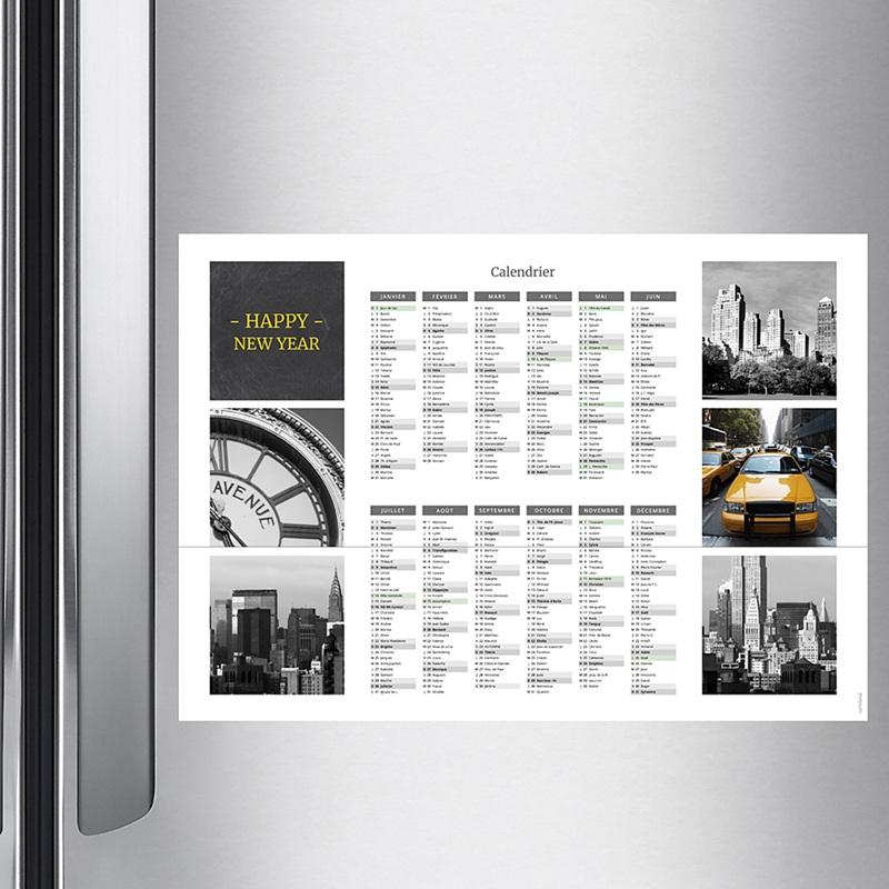 Calendrier Monopage 2020 5 photos, vacances scolaires et jours fériés pas cher