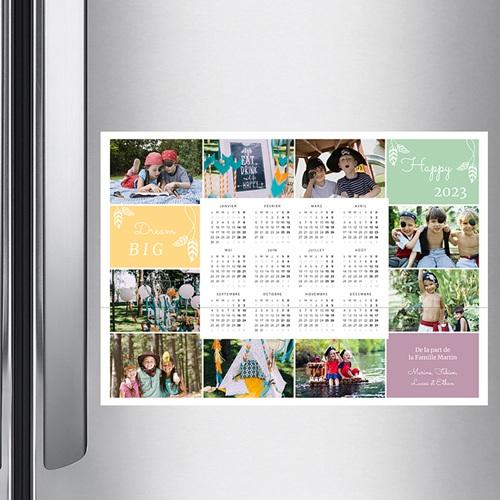 Calendrier Monopage - Couleurs de l'année 36755 preview