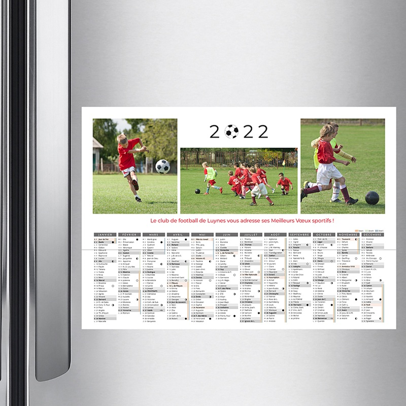 Calendrier Monopage - Football 36758 thumb