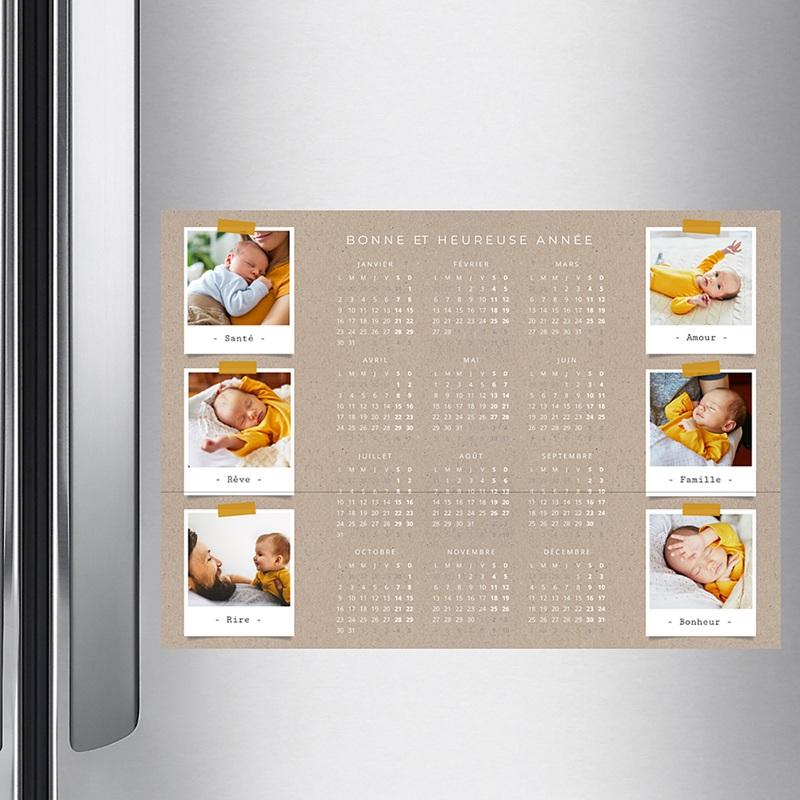 Calendrier photo monopage 2020 personnalisé Collage pas cher