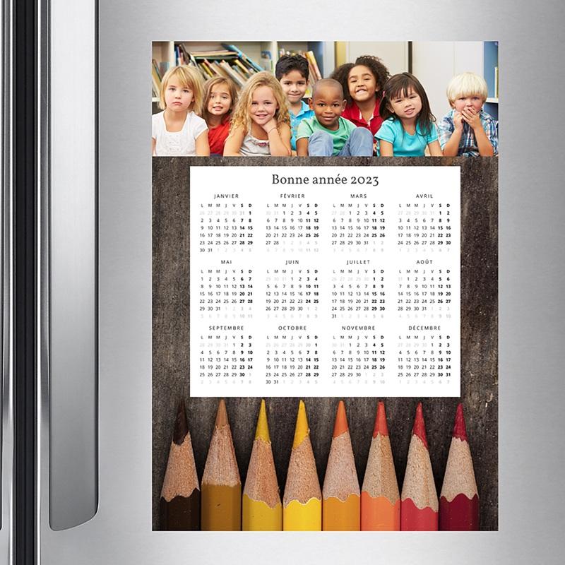 Calendrier Entreprise 2020 Crayons de couleurs pas cher