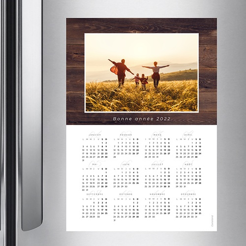 Calendrier Monopage - Boiserie 36782 preview