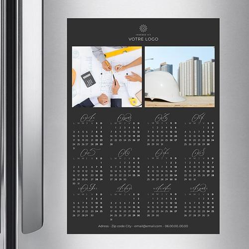 Calendrier Professionnel - Pro Noir Vertical 36784 preview