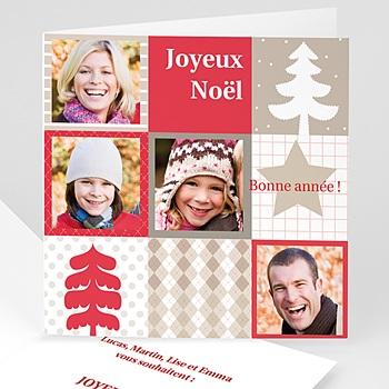 Carte de voeux Joyeux Noel et Bonne année enneigée