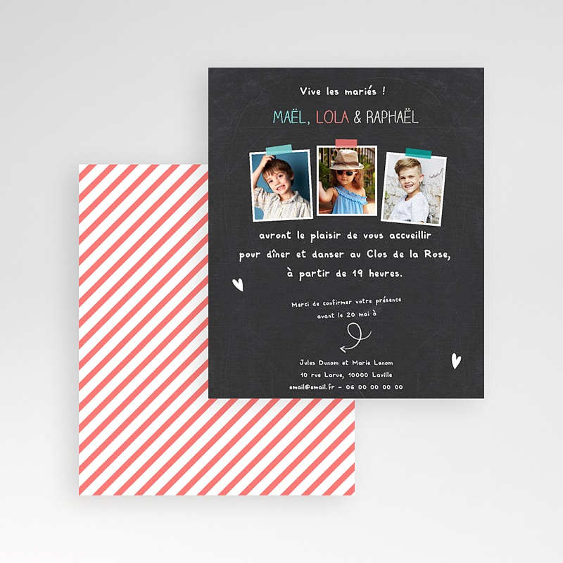 Carte d'invitation Vive les parents gratuit