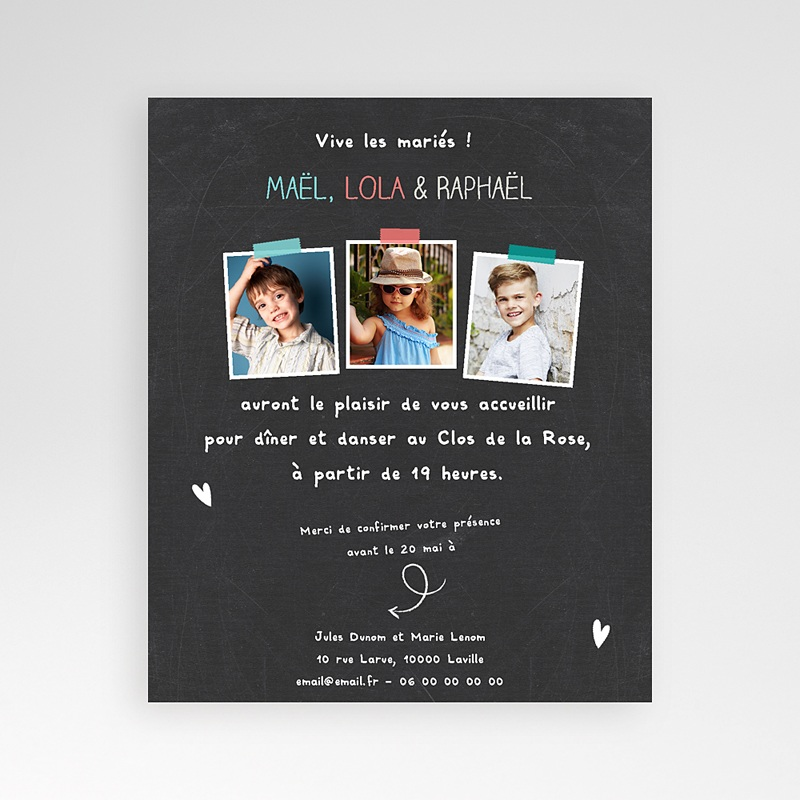 Carte d'invitation Vive les parents