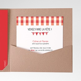 Carte d'invitation Carreaux Vichy