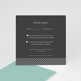 Carton réponse Rayures noires