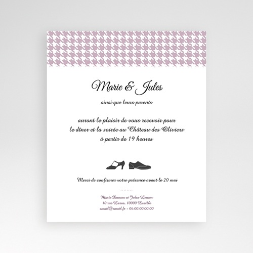 Carte d'invitation Lady and Gentleman
