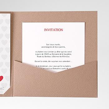 Achat carte d'invitation mon coeur, mon amour