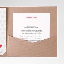 Carte d'invitation Mon coeur, mon Amour