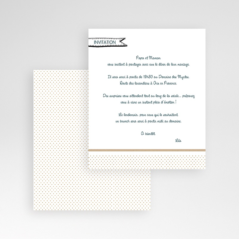 Carte d'invitation Belle famille gratuit