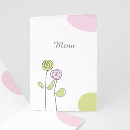 Menu Tendrement Pastel
