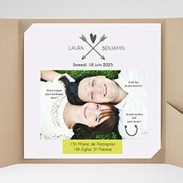 Faire-Part Mariage Pochette carré Parlez-moi d'amour