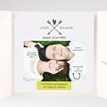 Faire-Part Mariage Pochette carré - Parlez-moi d'amour 37147 thumb