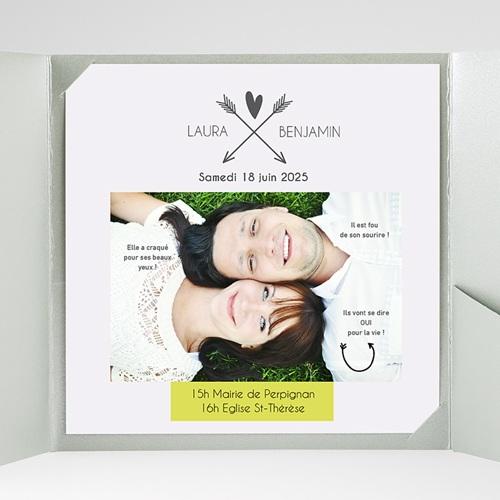 Faire-Part Mariage Pochette carré - Parlez-moi d'amour 37148 thumb
