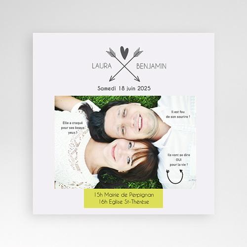 Faire-Part Mariage Pochette carré - Parlez-moi d'amour 37149 thumb