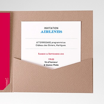 Carte d'invitation airlines pas cher