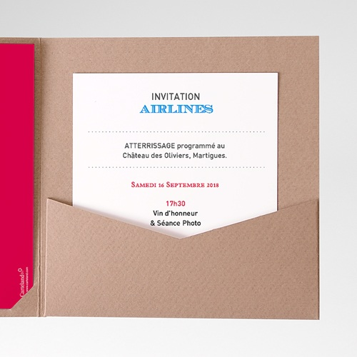 Carte d'invitation Airlines