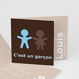 Faire-Part Naissance Garçon - C'est un Garçon  3722