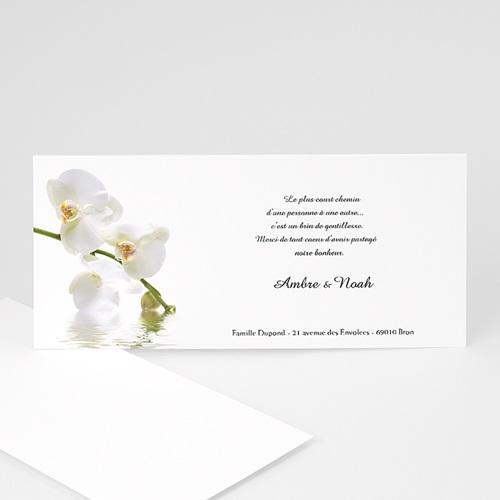 Remerciements Mariage Personnalisés Thème Orchidée Blanche