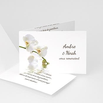 Remerciements Mariage Personnalisés L'orchidée d'Asie