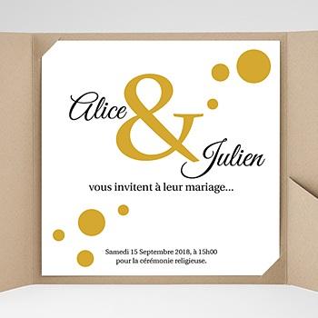 Faire-Part Mariage Pochette carré Bal de Confetti