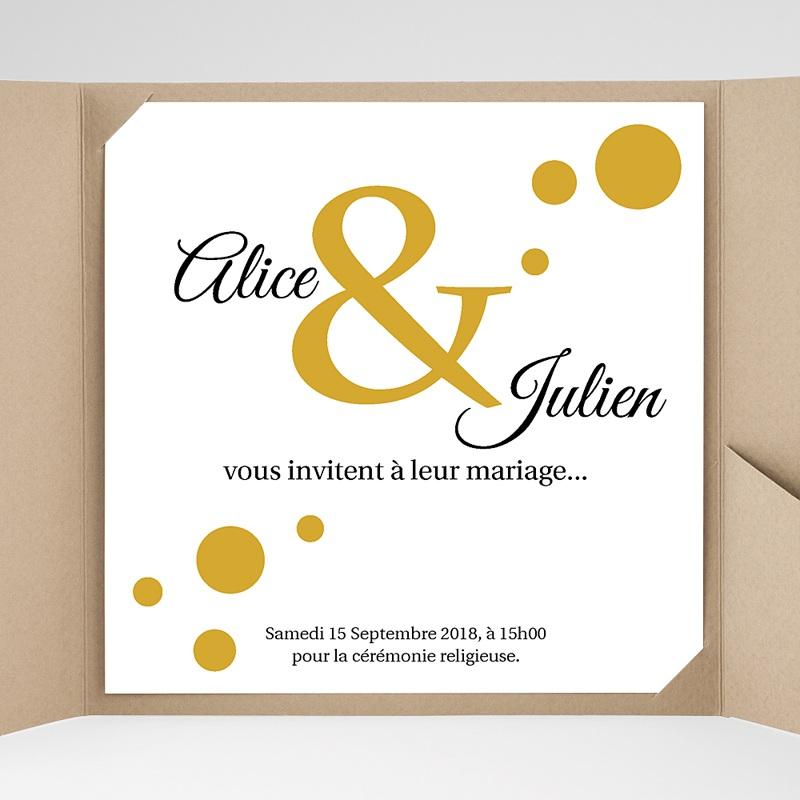 Faire-Part Mariage Pochette carré - Bal de Confetti 37350 thumb