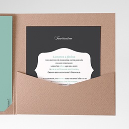 Invitations Rayures noires