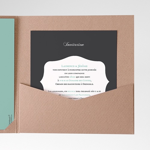 Carte d'invitation Rayures noires