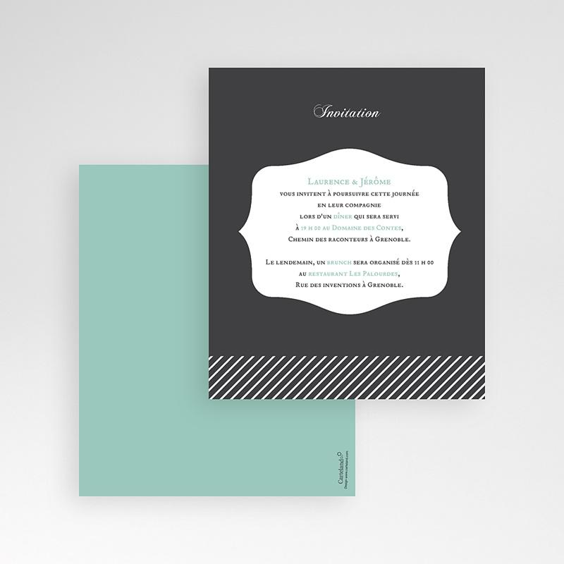 Carte d'invitation Rayures noires gratuit