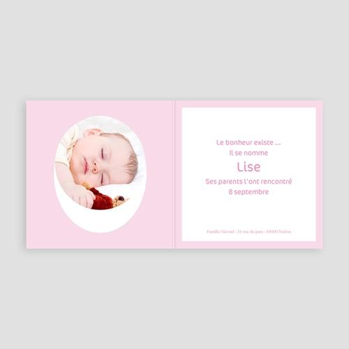 Faire-Part Naissance Fille - Lise 3747 preview