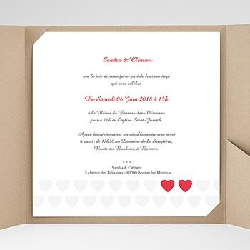 Faire-Part Mariage Pochette carré - Mon coeur, mon Amour - 0