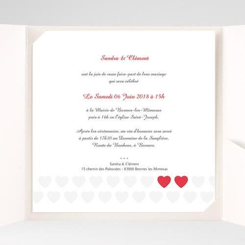 Faire-Part Mariage Pochette carré - Mon coeur, mon Amour 37489 thumb