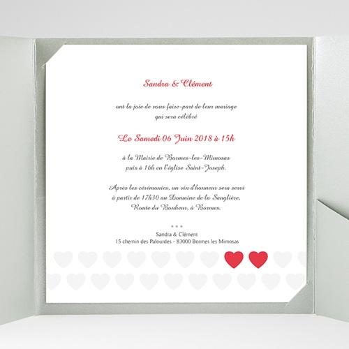 Faire-Part Mariage Pochette carré - Mon coeur, mon Amour 37490 thumb