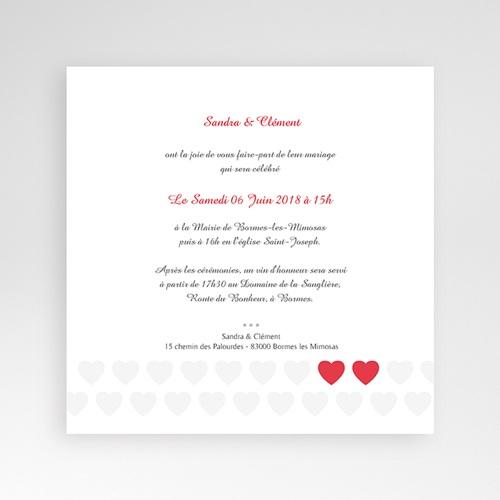 Faire-Part Mariage Pochette carré - Mon coeur, mon Amour 37491 thumb