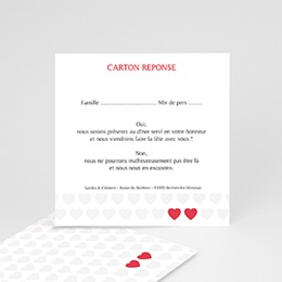Cartons réponse Mon coeur, mon Amour