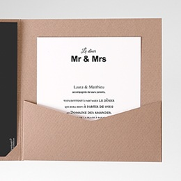 Carte d'invitation Mr & Mrs